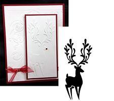 Reindeer in Corner Christmas Embossing Folder 1218-113 Darice embossing Folder