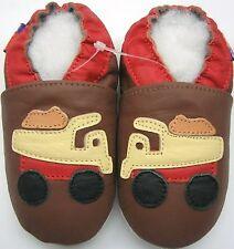 soft sole leather baby boy crib shoe mini shoezoo track brown 6-12m walking