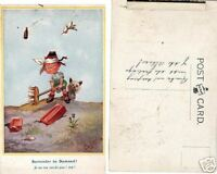 ANTIQUE POSTCARD EARLY 1900S WWI SURRENDER T GILSON