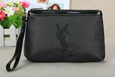 fd22ad22ab YSL Black Makeup Cosmetics Bag with handle