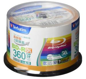 VBR260YP50V1 Verbatim Blu-ray Disc 50 Spindle 50 GB 4X Speed BD-R DL Printable