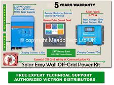 Victron Multiplus Solar Easy Wall Off Grid Kit 24V DC to 5000VA 230V 250V MPPT