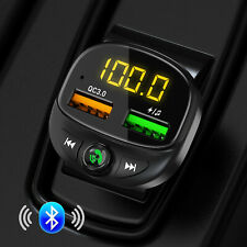 Trasmettitore FM Bluetooth 5.0 Wireless Lettore MP3 Kit caricatore USB per auto