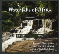 Liberia 2018 MNH Waterfalls of Africa Kpatawee Waterfall 1v SS Landscapes Stamps
