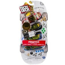 Tech Deck 96mm Fingerboard 4 Pack Primitive Series -