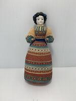 "Vintage American Heirloom Avon Sachet Body Porcelain Head Cloth Doll 11"" tall"