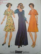 """Vintage 1970s vestido de patrón de costura simplicidad look más delgado 6613 Busto 32.5"""" 34"""""""