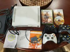 Xbox 360 Console & 4 Genuine Microsoft Controllers TESTED, but in Poor Condition