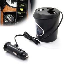 DC Dual Socket Car Cigarette Lighter Power Adapter Charger Splitter w 2 USB Port