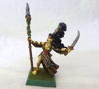 Warhammer Wood Elves painted Spellsinger mage sorceress  metal oop
