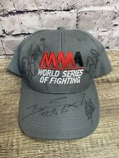 MMA World Series Of Fighting Men's Hat Gray Cap Signed Signatures