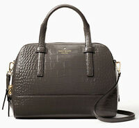 NWT Kate Spade Small Felix Graphite Leather satchel + 25% off your next order*