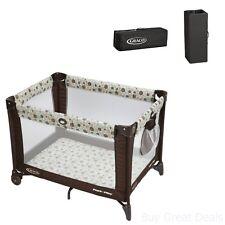Graco Pack 'n Play Playard Aspery Portable Baby Crib Foldable Travel Bed Wheels