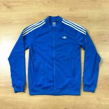 Adidas Originals Medium Blue White Long Sleeved Classic Tracksuit Top Jacket