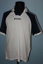Lotto Blue White Blank Soccer Short Sleeve Jersey L NWT