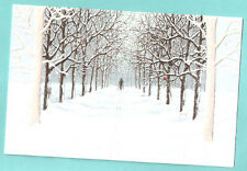 Cross Country Skier Tree Snow Cardinal Embossed Christmas Cards Box of 16