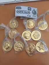 Super Mario Gold coins medal key chain complete set official nintendo licensed
