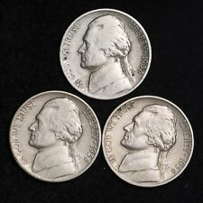 1938 P D S Jefferson Nickel Set (3 Coin Lot) Nice GOOD / VG FREE SHIPPING
