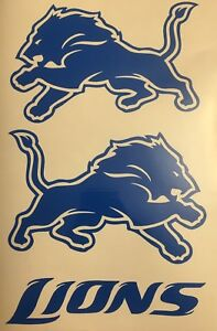 Detroit Lions Decal 1 LH & 1 RH **FREE SHIPPING**