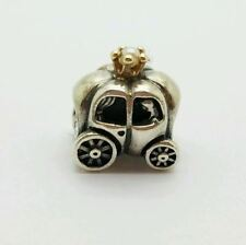 Authentic Pandora Sterling Silver/14K Royal Carriage White Pearl Bead 790430