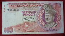BB04024  Malaysia 5th Series RM10 Aziz Taha RM10 aVF(no holes no tears)