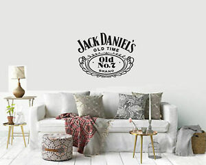 Jack Daniels logo design vinyl wall sticker from small to large