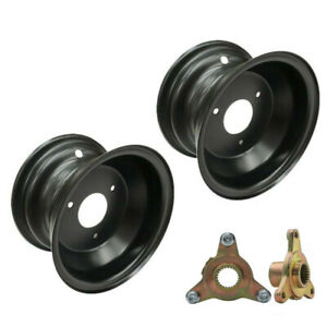 "2PC 7"" inch ATV Wheel Rim 3 Stud Rims + 78mm Wheels Hub fit 16X8-7 Tire Go kart"