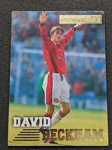 David Beckham Merlin #92 Premier Gold Rookie Card Manchester United 1996-97 RC