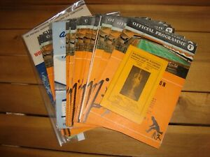 Full season of Wolves 1959-60 home programmes - 28 in all + fixture card