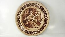 Vzgane Vžgane slike - Image Burned wood wall Plate - Woman working - 9""