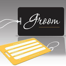 TagCrazy Wedding Luggage Tags, Groom, Durable Plastic Loops-1 Pk