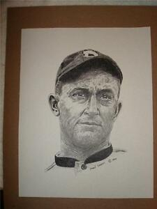 Ty Cobb - Detroit Tigers Hall of Fame 2nd Baseman - print