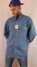 Vintage años 90 Wrangler Algodón Chambray Camisa Estilo Occidental utilidad L-XL
