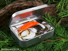 MD SILVER ULTIMATE SURVIVAL/EMERGENCY KIT IDEAL FOR BUSHCRAFT DofE HIKING