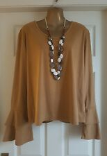 Debenhams Plus Size Ladies Suedette Flute Blouse uk22 NWOT. Casual/Office/Work/