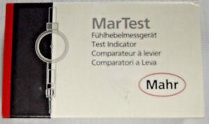 Mahr Federal 0.01 Inch Range, 0.0005 Inch Dial Graduation, Horizontal Dial Test