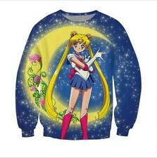 2016 New Women/Mens Sailor Moon Serena 3D Print Casual Sweatshirt Hoodies AZG13
