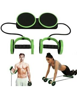 MACUNIN Multi Function Double Ab Roller Wheel,New Version Green