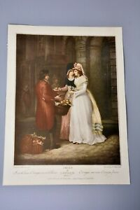 Antique Clipping/Print: Cries of London Plate 3 Orange/Fruit Seller