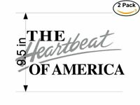 The Heartbeat of America 2 Stickers 9.5 inches Sticker Decal