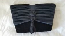 Vintage Black Velvet Evening Bag
