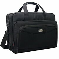 17 Inch Laptop Bag, Expandable Large Capacity Business Briefcase, Shoulder Bag