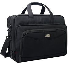 17 Inch Laptop Bag, Expandable Large Capacity Business Briefcase, Shoulder Bag