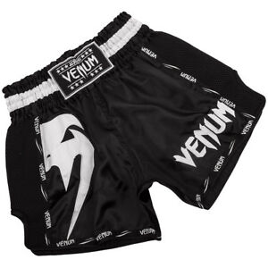 Venum Giant Lightweight Muay Thai Shorts - Black/White