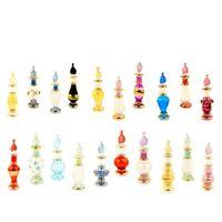 "Lot of 100 decorative Egyptian perfume bottles mouth blown Pyrex glass 2""Vintage"