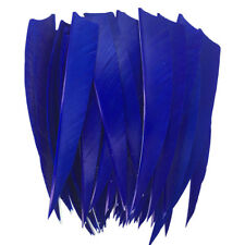 "Archery Fletches 5"" Shield Cut Dark Blue Traditional Feather Fletching RW -50PCS"