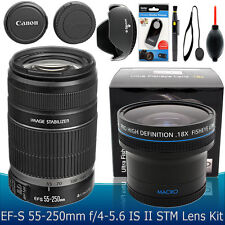 Canon EF-S 55-250mm f/4-5.6 IS II Lens  Fisheye Accessory Kit for Canon Cameras