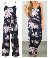 AU SELLER Boho Floral Overalls Jumpsuit Hippie Romper Playsuits Pants ju015
