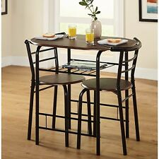 Bistro Dining 3 Pc Set Table Chairs Home Kitchen Bar Porch Furniture Space Saver