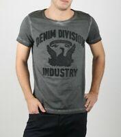 Brand New Diesel Mens' T-Diego-DC-B, 100% Cotton, Round Neck Leather Application